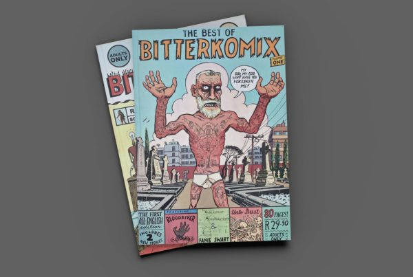 Best of Bitterkomix vol.1 aerial view. Covers, back and front.