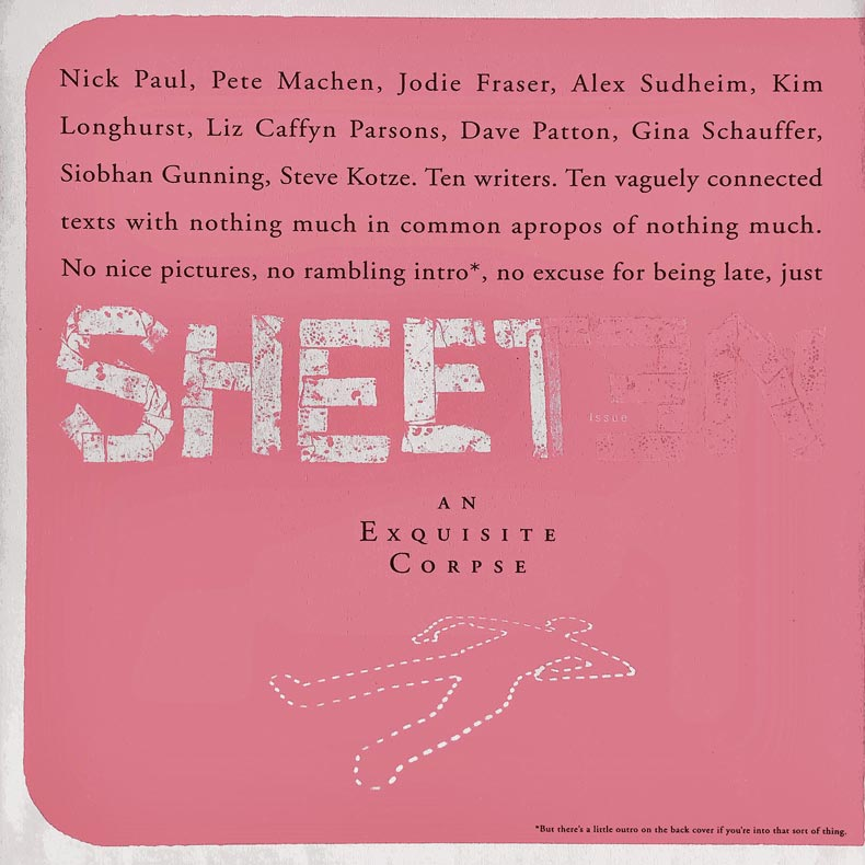 Sheet issue no.10 cover (front)
